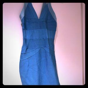 Cute blue bandage dresses